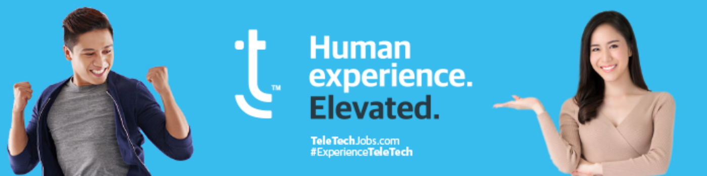 Banner of TeleTech - Philippines hiring for jobs in Philippines on GrabJobs