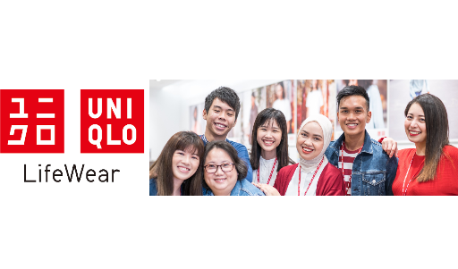 Logo of UNIQLO hiring for jobs in Singapore on GrabJobs