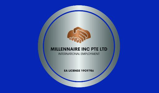 Logo of Millennaire Inc Pte Ltd hiring for jobs in Singapore on GrabJobs