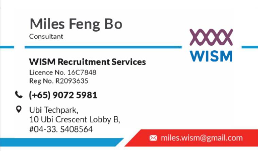 Logo of WISM Recruitment Services hiring for jobs in Singapore on GrabJobs
